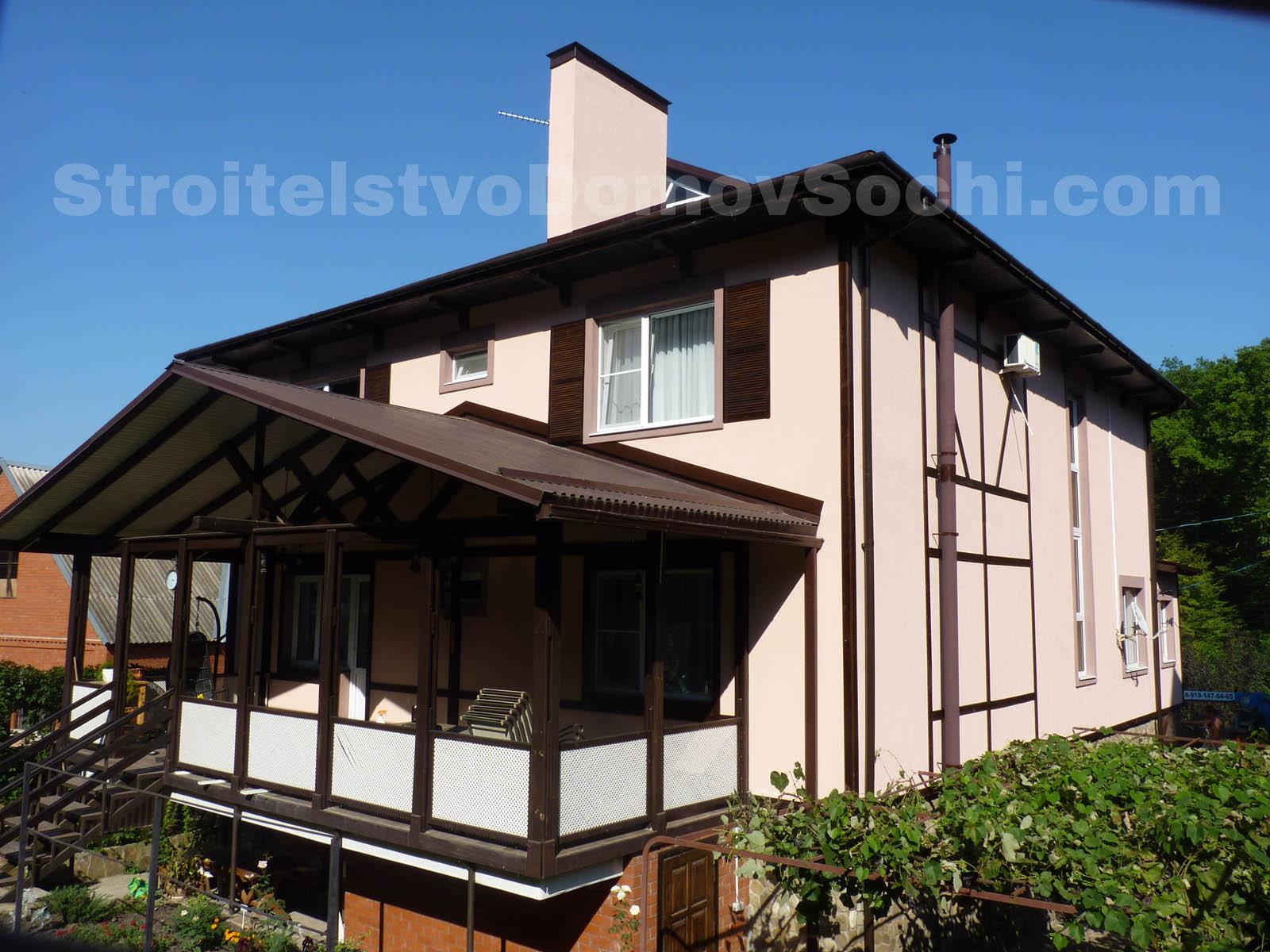 Декорация дома фахверковыми конструкциями